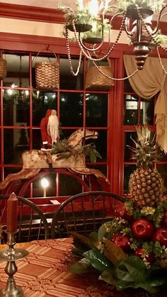 Always wanted a carousel horse. Primitive Christmas Decorating, Primitive Country Christmas, Country Christmas Decorations, Prim Christmas, Christmas Tablescapes, Vintage Christmas, Christmas Holidays, Primitive Decor, White Christmas