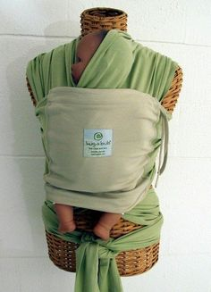 Hug-A-Bub Carrier. We used this EVERY day for our baby until she was about 3 months old. Lifesaver
