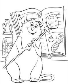 Tegninger til Farvelægning Ratatouille 9