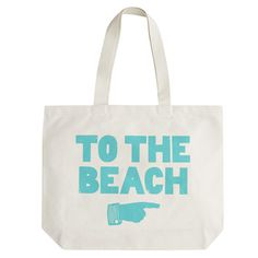 Alphabet Bags To the Beach Large Natural Tote
