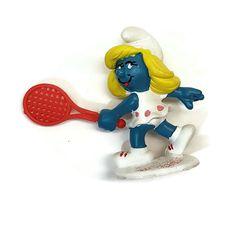 Smurfs 20135 Tennis Smurfette Vintage Peyo Schleich PVC Figure West Germany  #Schleich Smurfette, Pin On, Holding Baby, Smurfs, Tennis, Ebay, Cartoon, Vintage, Toys