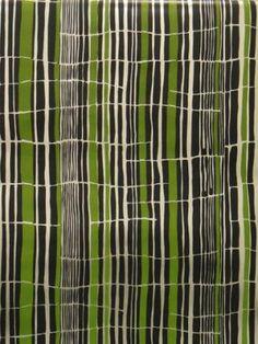 Tortoiseshell Stripe - Florence Broadhurst - green black.jpg