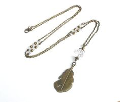 Hey, I found this really awesome Etsy listing at https://www.etsy.com/listing/151539246/long-pendant-necklace-feather-pendant