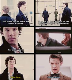 """Is that actually Sherlock Holmes, Doctor?""  ""Not out loud Rory, he'll think you've been reading John's Blog..."" #Sherlock #doctorwho #wholock"