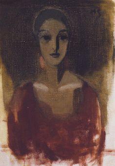 Helene Schjerfbeck「Dora/Dora Estlander(ドーラ/ドーラ・エストランデル)」(1922)