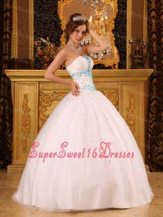 Beautiful White Sweet 16 Dress Strapless Satin and Organza Beading Ball Gown