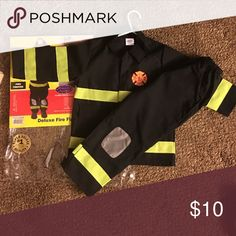 Boys Deluxe Fire Fighter Costume Deluxe Fire Fighter Costume Costumes Halloween