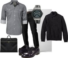 """Black and Grey Business Casual"" by themochapeach on Polyvore"