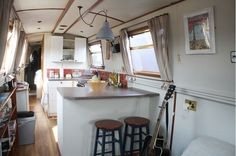 The Fashion Diaries - Boat Life - narrowboat kitchen