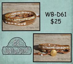 WB-D61 beaded double wrap bracelet - Snow Ball cocktail seed bead mix by 83GypsyRoad on Etsy