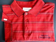 Tehama Clint Eastwood Golf Polo Shirt Size XL Men's Rust Color 100% Cotton NICE
