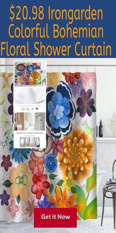Exotic Art Colorful Mandala Flowers Pattern Shower Curtain Set Bathroom Decor LB