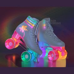 80s/90s themed rollerskates. Only an illustration, these do not exist! I get a lot of messages about that.