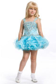 Ball Gown Straps Short-Mini Organza Flower Girls Dress $173.99 Flower Girls Dresses