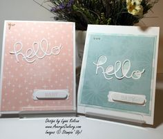 Stampin Up Hello You Thinlits AverysOwlery.com