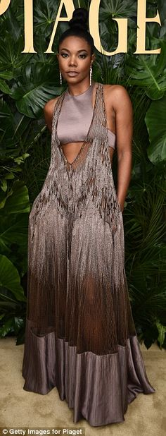 Stunning style: Gabrielle Union, 45, and Karolina Kurkova, 34, looked incredible as they s...