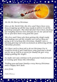 Santa Letter Santa Letter Template And Letter Templates