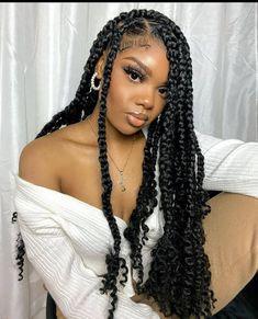 Black Girl Braided Hairstyles, Twist Braid Hairstyles, Black Girl Braids, Crochet Braids Hairstyles, African Braids Hairstyles, Baddie Hairstyles, Braids For Black Hair, Girls Braids, Weave Hairstyles