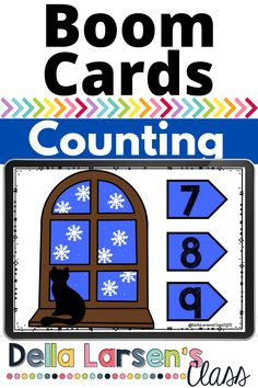 Boom Cards make counting snowflakes for a winter math center. A quick and easy way to assess your kindergarten students' number sense. Make your math centers more engaging and fun. Count the snowflakes in this peaceful winter deck.