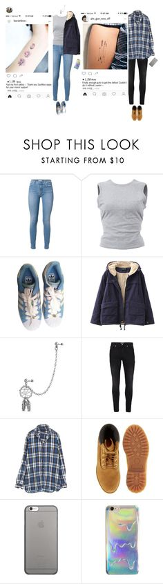"""Lauren & GunWoo_ First Tattoos"" by purrfectas ❤ liked on Polyvore featuring T By Alexander Wang, adidas, Chicnova Fashion, Bling Jewelry, StyleNanda, Topman, Timberland and Native Union"