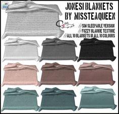 MissTeaQueens Jonesi blanket conversions at Loverat Sims4