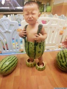 Watermelon suit.