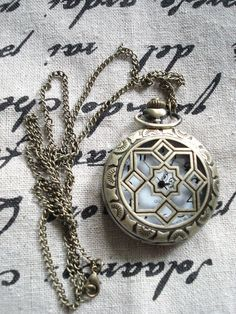 Star highend vintage pocket watch Necklace Retro C594 by Minicui, $5.99