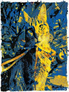 4 #ART #LOVE #BYTES #CAT by #RootCat — http://pinterest.com/rootcat/rootcat-japanese-handprints/ — Handprint : 245x335mm 20gr. Chinese Ink. Very thin traditional japanese paper, almost translucent, natural yellow, based on mashed young bamboo shoots, fabricated manually in the vat in China (Fujian) — snapshots 2013