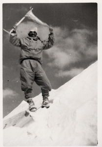 Maurice Herzog at the top of Annapurna (8 091 meters)
