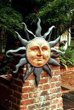 Idea for ceramic sun face