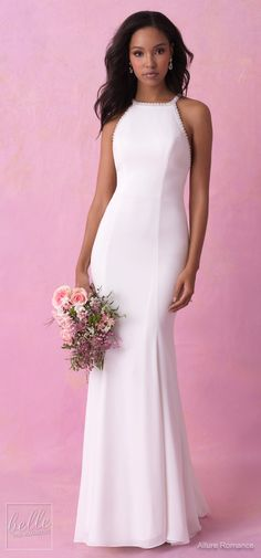 Simple Wedding Dresses Inspired by Meghan Markle - Allure Romance Fall 2018 | Royal wedding bridal gown #weddingdress #weddingdresses #bridalgown #bridal #bridalgowns #weddinggown #bridetobe #weddings #bride #weddinginspiration #dreamdress #fashionista #weddingideas #bridalcollection #bridaldress #fashion #dress See more gorgeous bridal gowns by clicking on the photo