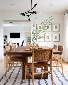 Get inspired by these dining room decor ideas! From dining room furniture ideas, dining room lighting inspirations and the best dining room decor inspirations, you'll find everything here! Dining Room Design, Dining Room Furniture, Dining Area, Small Dining, Furniture Ideas, Rug In Dining Room, Coastal Dining Rooms, Target Dining Chairs, Modern Dining Room Chairs