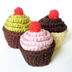 1000+ images about Crochet Cupcakes Tortas Helados on ...
