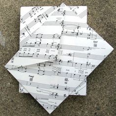 handmade envelopes ... upcycled sheet music ...