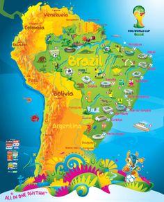 FIFA World Cup Brazil 2014 ... esta infografia esta bella por que aparece mi país Venezuela .. aunque un poco triste por que la vino tinto no calcifico