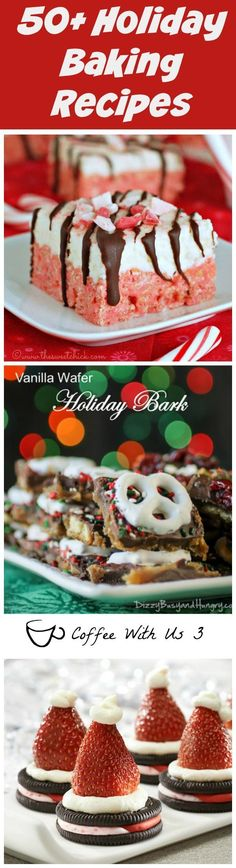 50+ plus of the absolute best Christmas cookies, candies, and sweets.  These are perfect for holiday parties, neighbor gifts, or just to munch on!