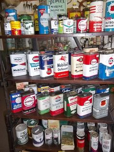 Wow great outboard boat motor Oil cans . Great for that Lodge decor !