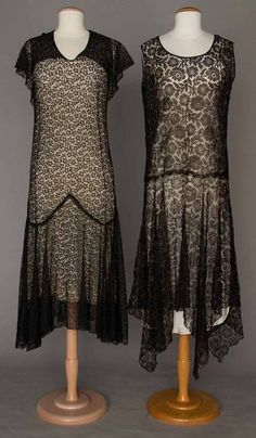 TWO ALL LACE EVENING GOWNS, 1930s : Lot 310