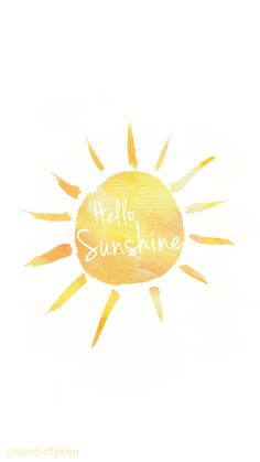 Hello sunshine yellow watercolor background wallpaper you can download for free on the blog! For any device; mobile, desktop, iphone, android!