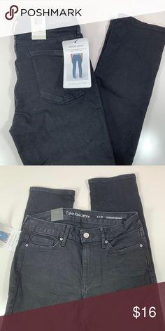 "80957518fdd Calvin Klein black skinny jeans Calvin Klein black skinny jeans. NWT Hand  measurements  Waist  26"" Rise  9"" Inseam  29"" The label reads sz."