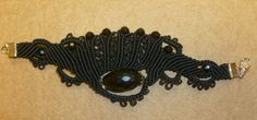 Macrame Jewelry Handmade black bracelet with beads от MacrameArt