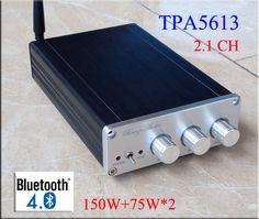2016 Nueva Brisa BA10C TPA5613 Hifi 2.1 Bluetooth de audio 4.0 75 W * 2 + 150 W Subwoofer de Audio Digital Amplificador de potencia Del Amplificador de Aluminio