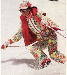 Floral ski apparel, anyone?