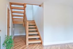 New open stairs painted 48 Ideas Open Stairs, Loft Stairs, House Stairs, Deck Stair Lights, Stair Railing, Railings, Diy Stair, Flooring For Stairs, Concrete Stairs