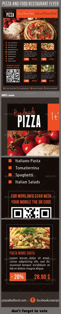 Snacks With Respect  Pizza FlyerPosterFlag  Food Brochure