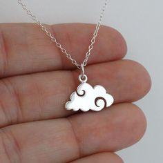 Cloud Necklace - Sterling Silver #SilverJewelry