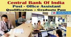 Central Bank of IndiaInvitesOnline Applications from, those people satisfying certain pre define requirements for filling current job for the Post of Office Assistant. Interested applicants need not get worried as associated details regarding the 2017 Central Bank of India– 2018 is provided and explain here. Interested aspirants people can get information for vacancy like eligibility …