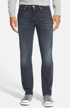 Levi's 511 zaha denim waxed black skinny jeans