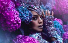 автор: maxima / размер: 4176x2848 / теги: взгляд, девушка, украшения, цветы, лицо, стиль, макияж, гортензия, Yazzmin