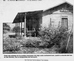 Estado de abandono en el que quedo la vieja Estación de San Germán, al desaparecer el ferrocarril de la Isla de Puerto Rico.
